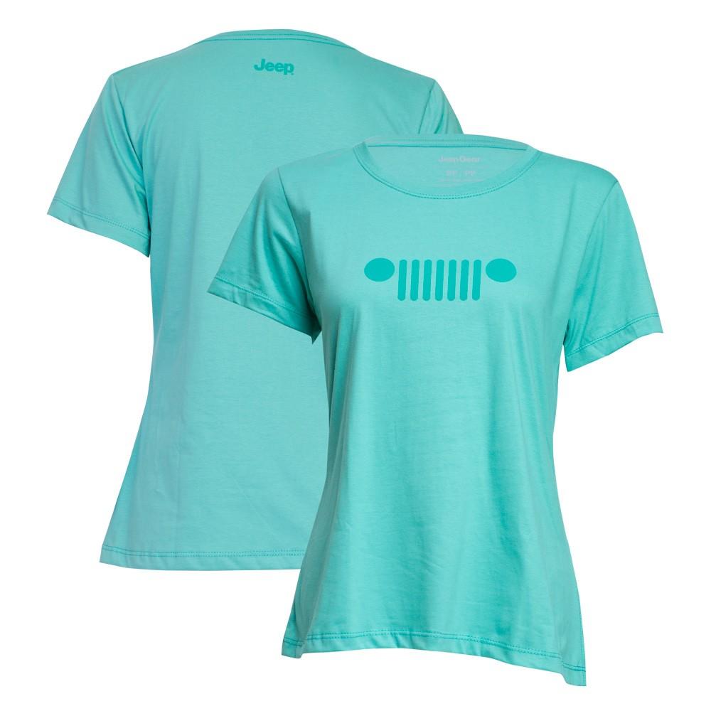 Camiseta Fem. JEEP - Grade - Verde
