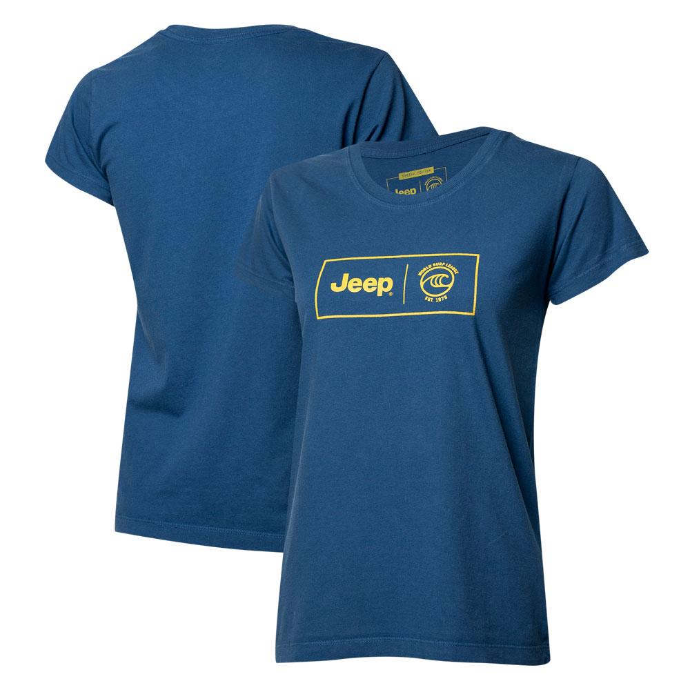 Camiseta Fem. JEEP I WSL Box Collab  - Azul Marinho