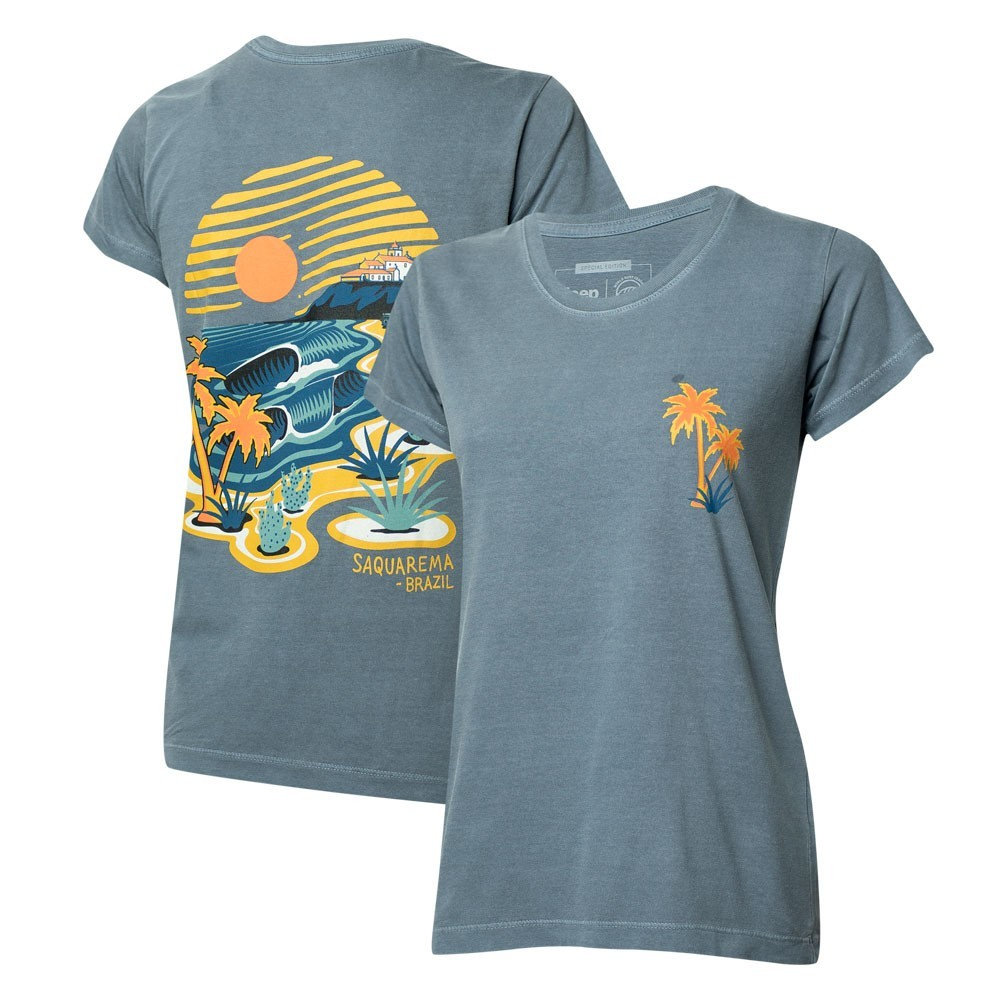 Camiseta Fem. JEEP I WSL Saquarema - Azul Marinho