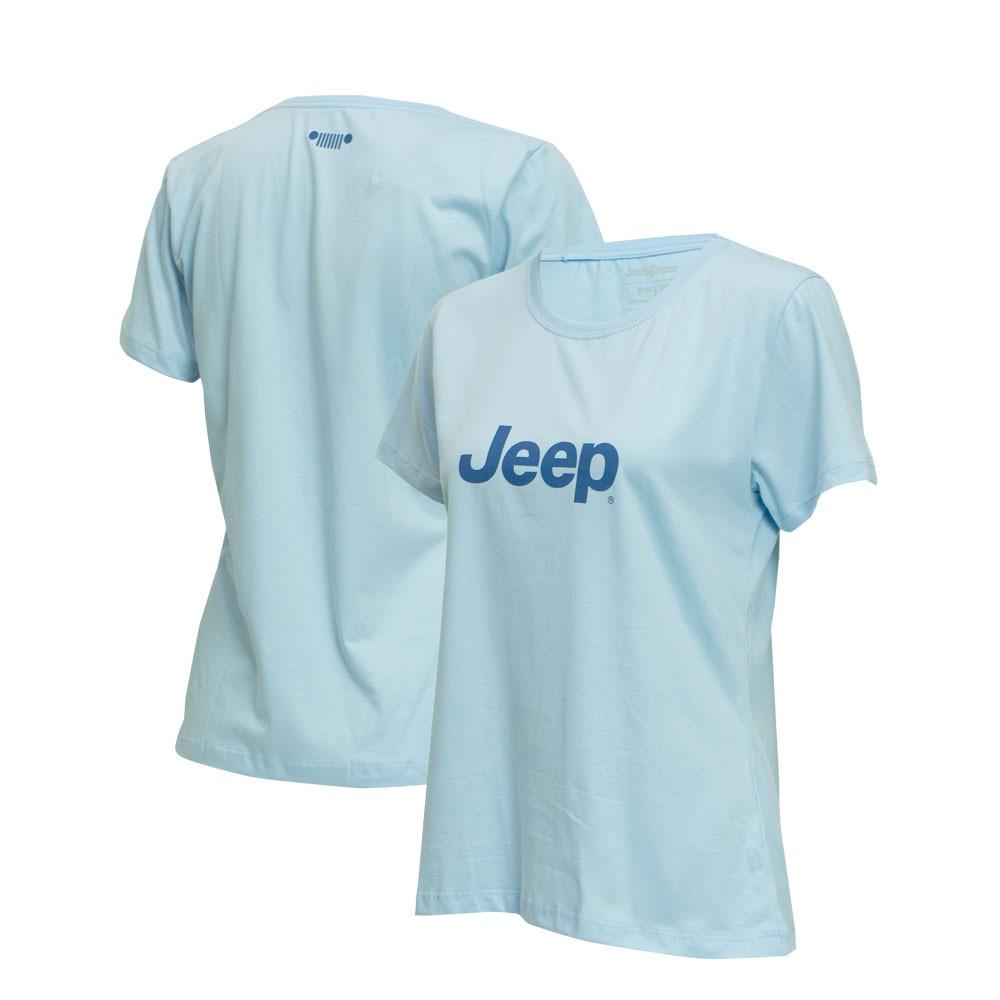 Camiseta Fem. JEEP  Logo  Azul
