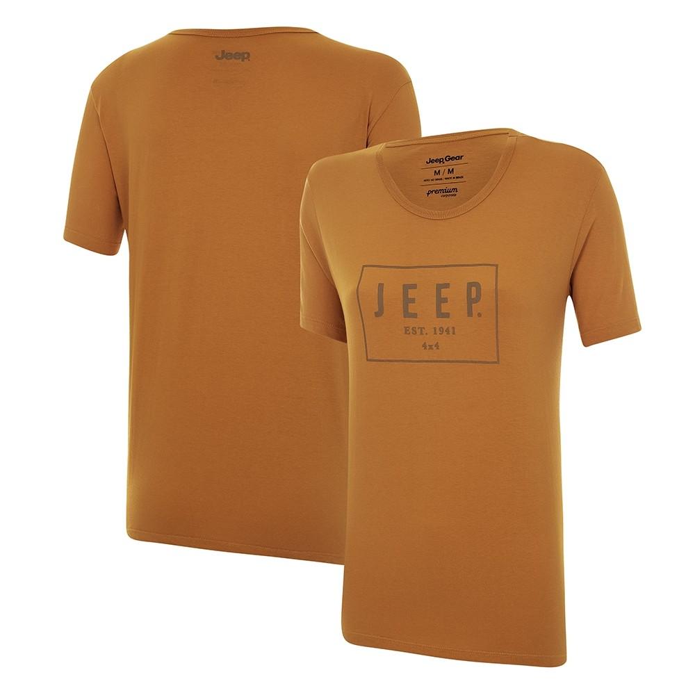 Camiseta Feminina JEEP Box Caramelo