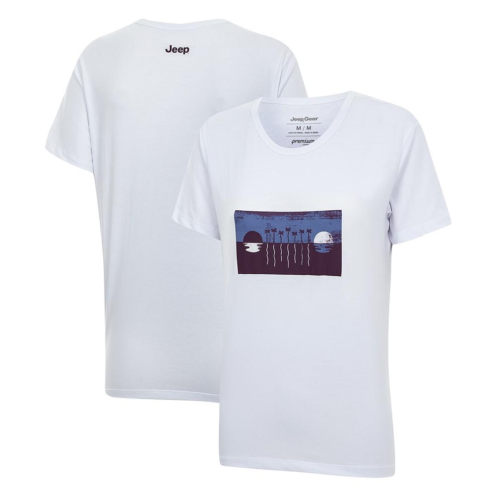 Camiseta Feminina JEEP Renegade View Branca