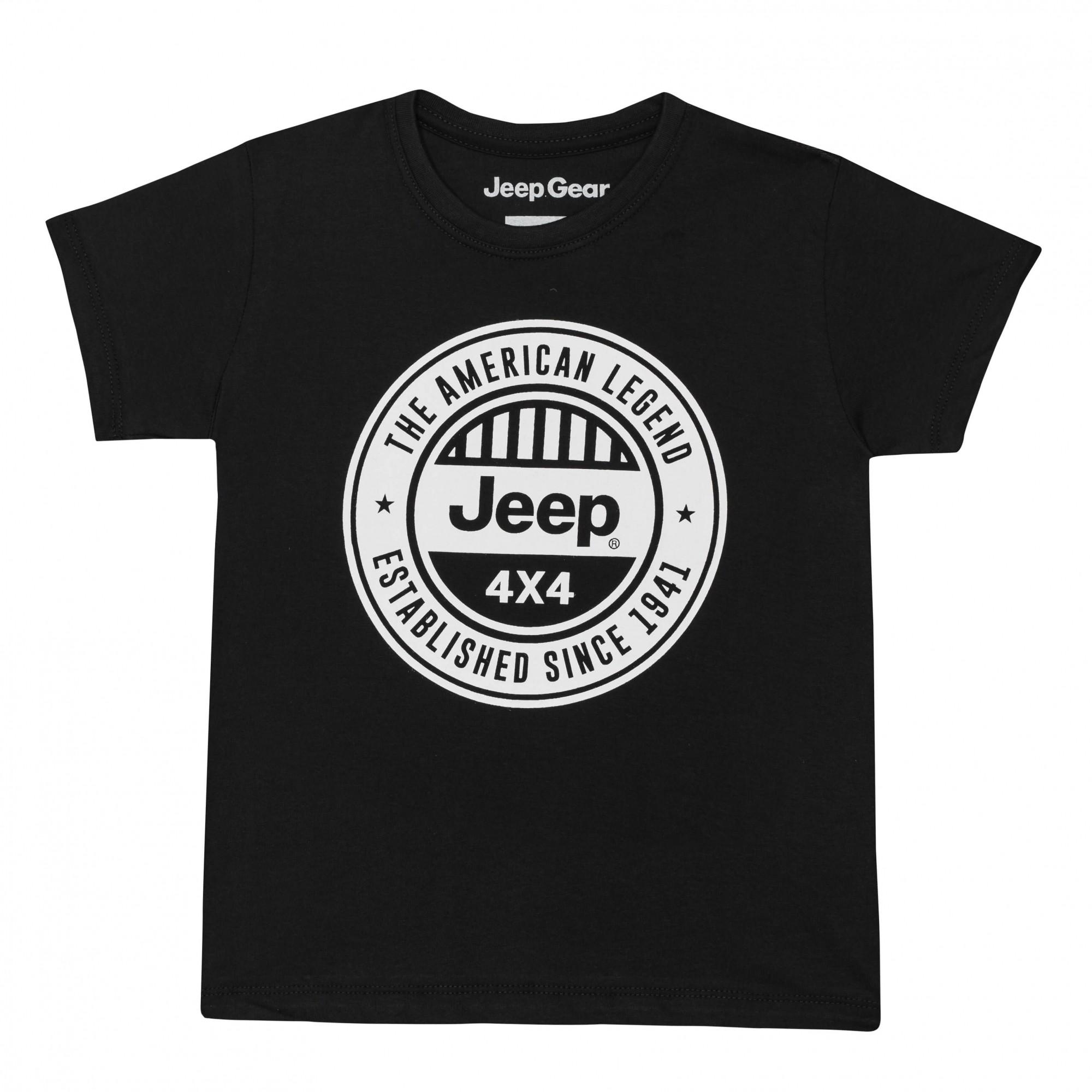 Camiseta Inf. Jeep American Legend 4x4 - Preta