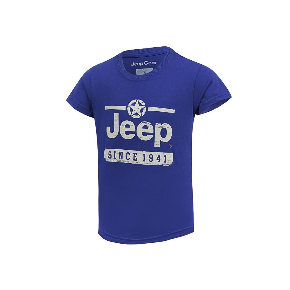 Camiseta Inf. Jeep Estrela Since 1941 - Azul Royal