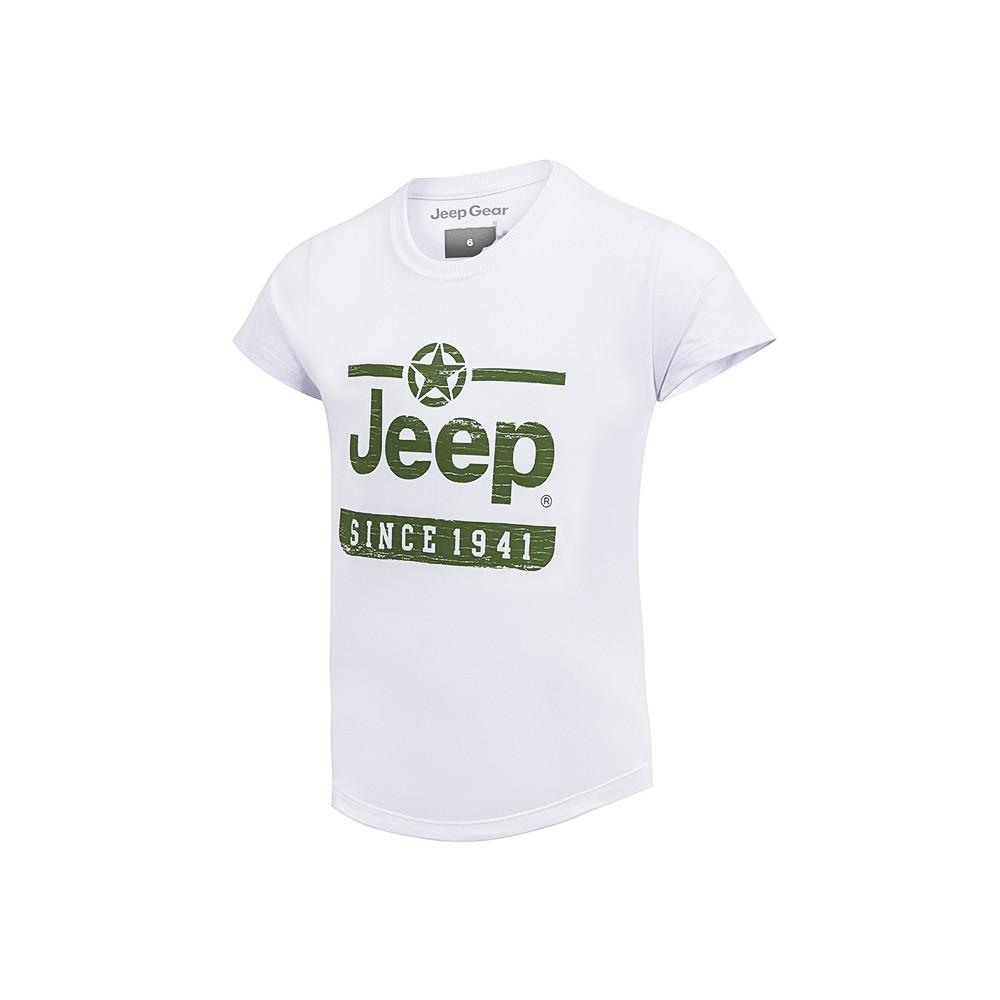 Camiseta Inf. Jeep Estrela Since 1941 - Branco