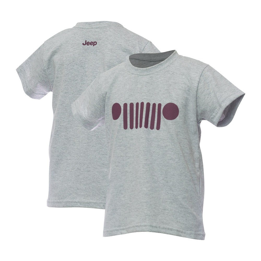 Camiseta Inf. Jeep Grade - Cinza Mescla