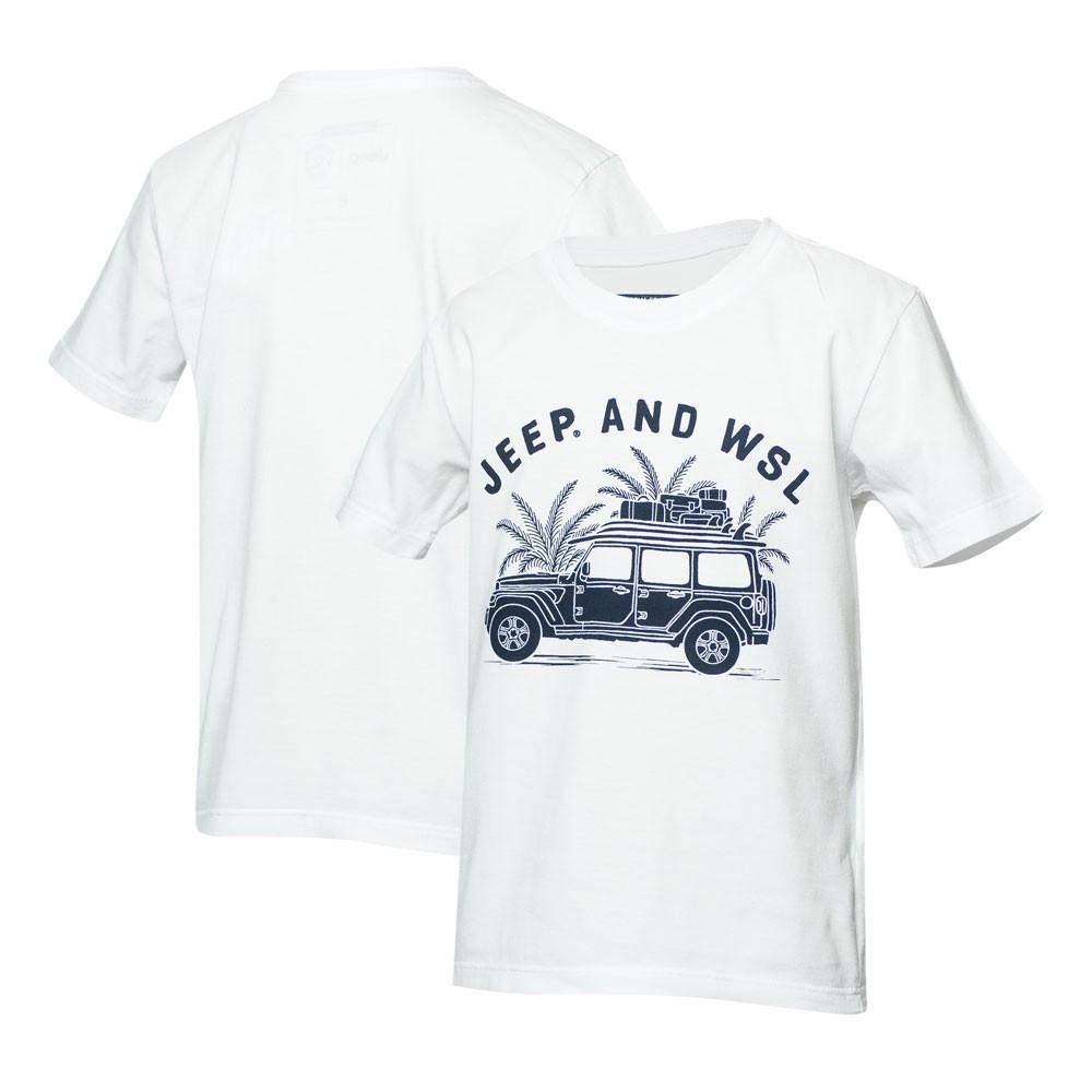 Camiseta Inf. JEEP I WSL Beach Wrangler - Branca