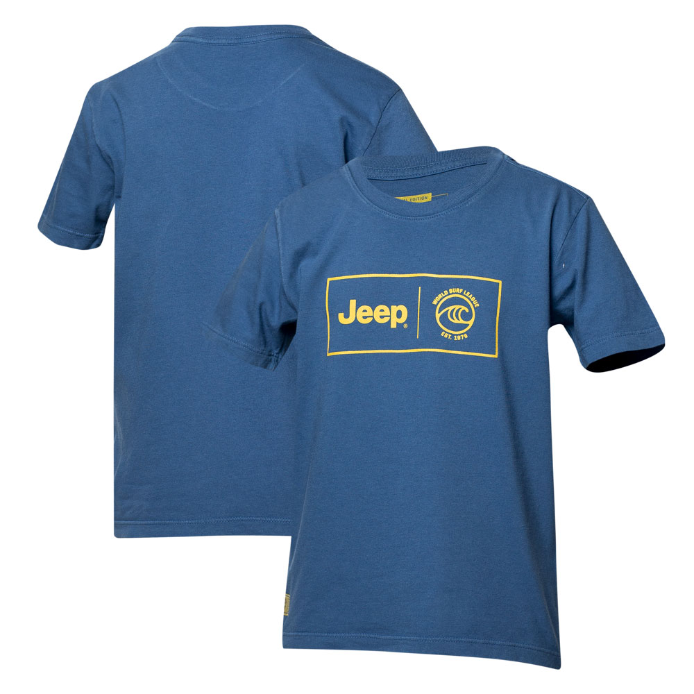 Camiseta Inf. JEEP I WSL Box Collab - Azul Marinho
