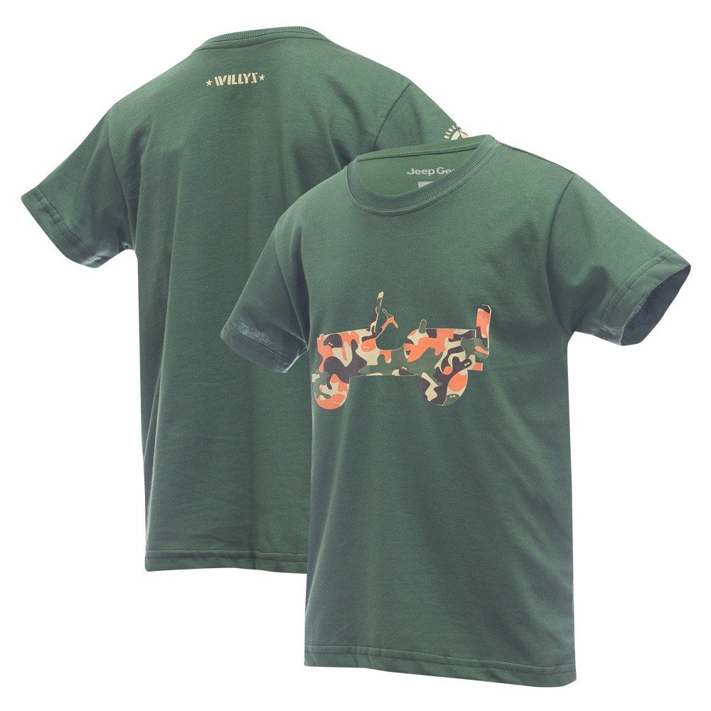 Camiseta Inf. Jeep Limited Edition Renegade Willys - Camuflado
