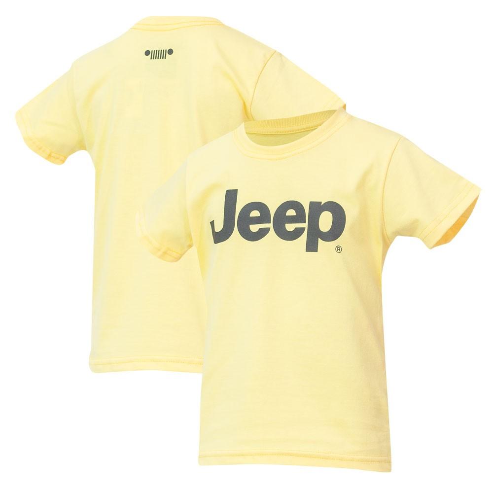 Camiseta Inf. JEEP Logo Preto - Amarela