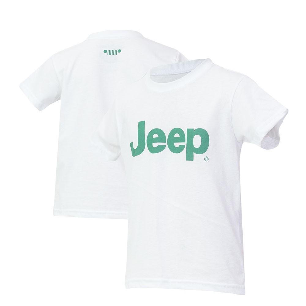 Camiseta Inf. JEEP Logo Verde - Branca