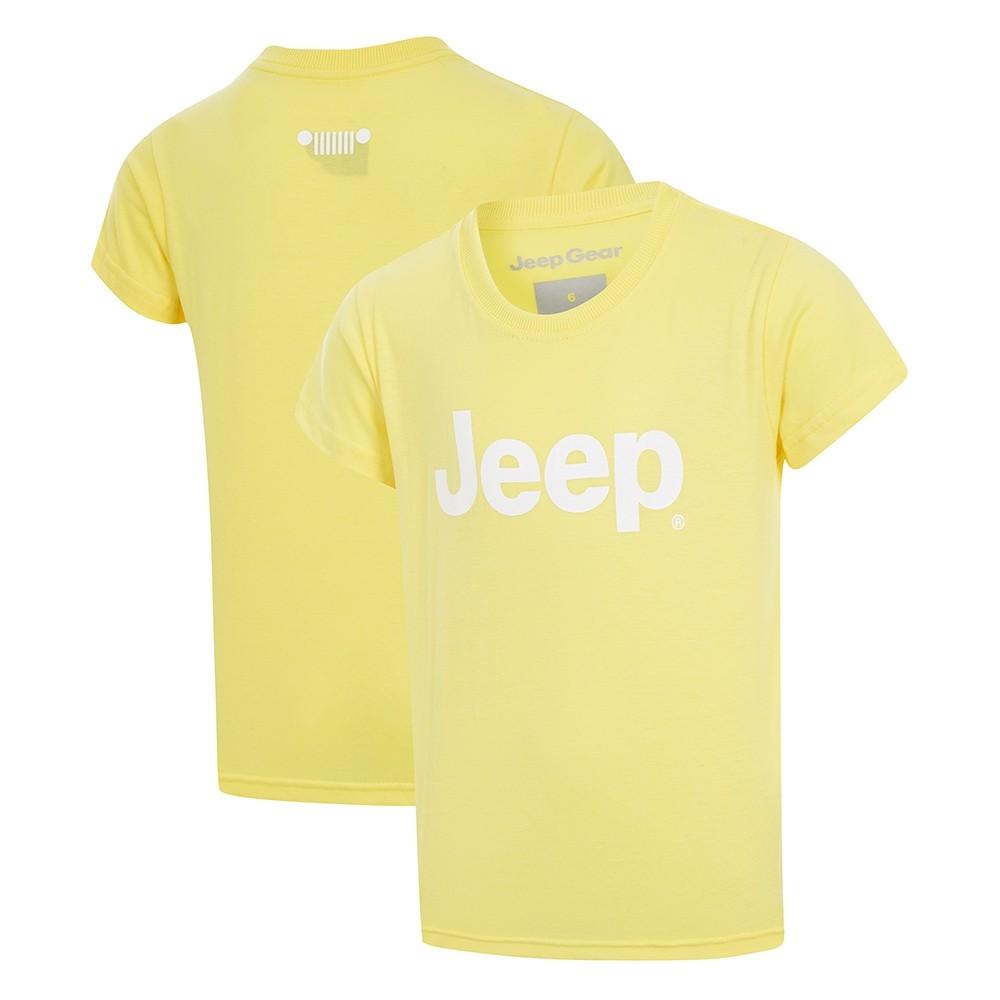 Camiseta Inf. Jeep Retrô - Amarelo Claro