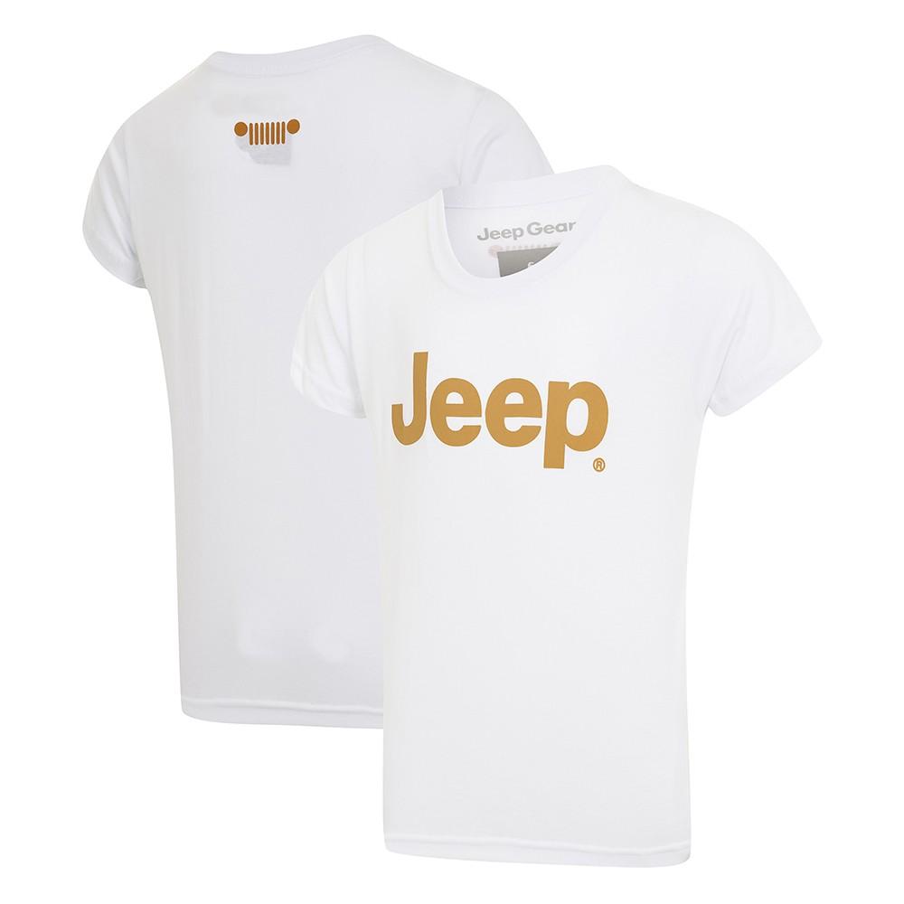 Camiseta Inf. Jeep Retrô - Branco