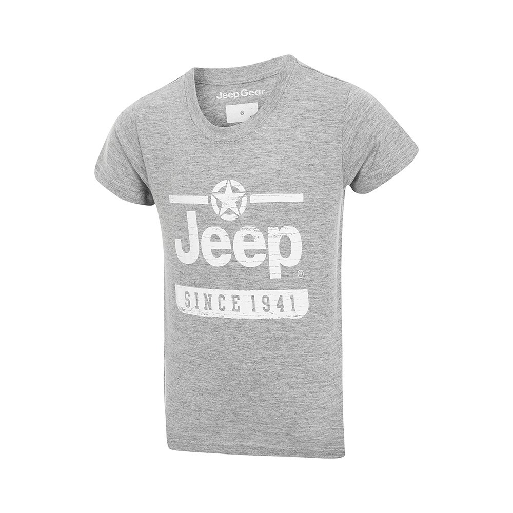 Camiseta Inf. Jeep Since 1941 - Cinza