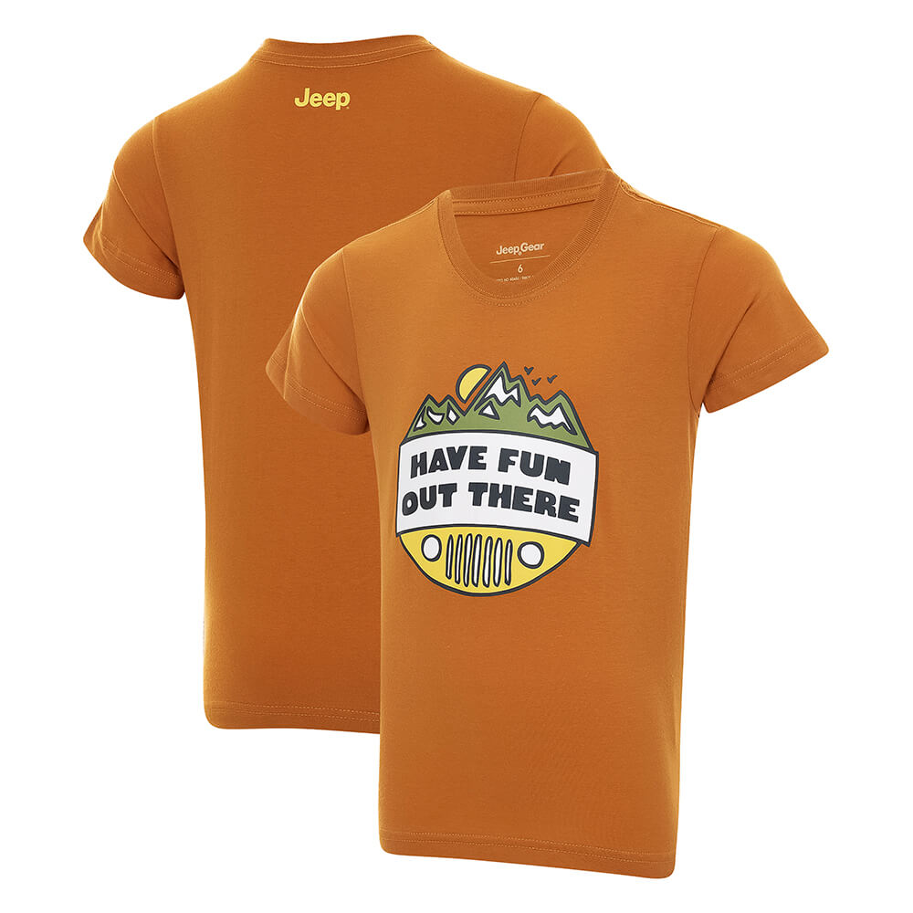 Camiseta Inf. JEEP Have Fun - Caramelo