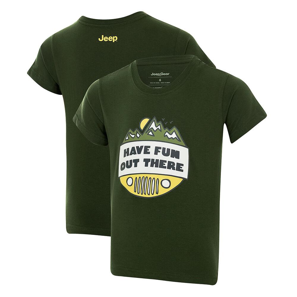 Camiseta Inf. JEEP Have Fun - Verde