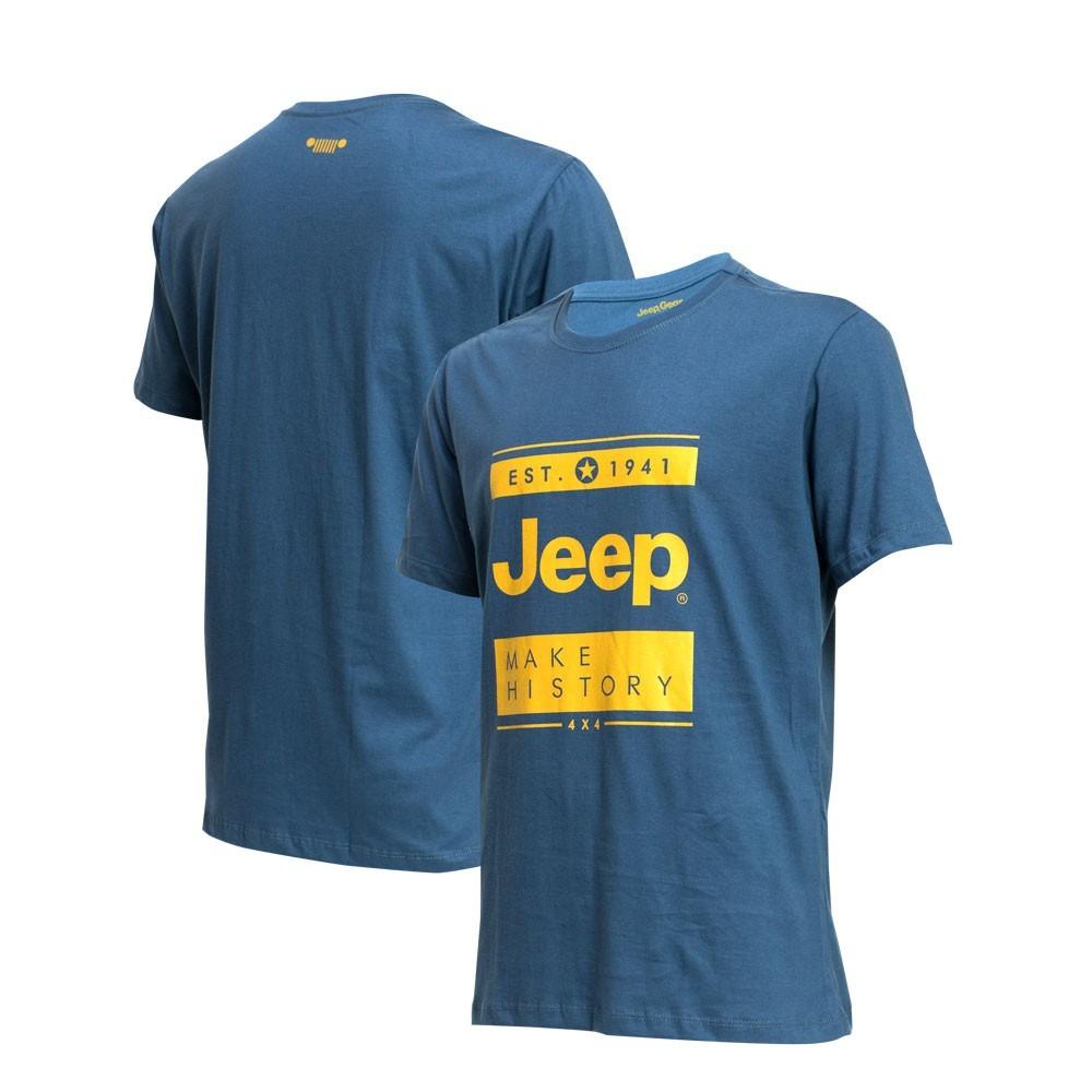 Camiseta Masc. JEEP Block Azul