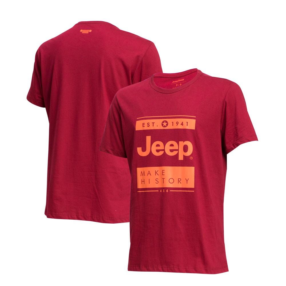 Camiseta Masc. JEEP Block Vermelho
