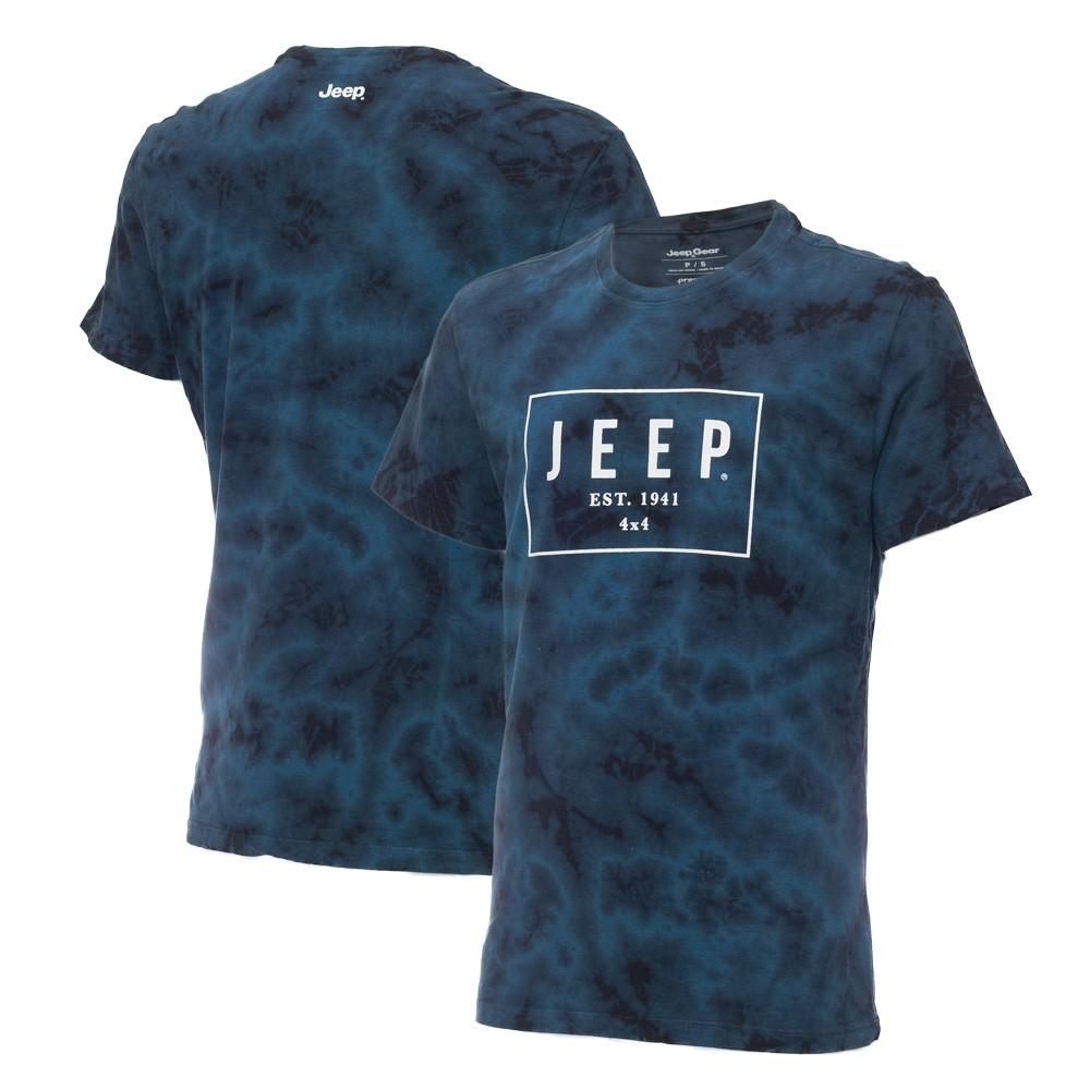 Camiseta Masc. JEEP Box Marmorizada - Azul