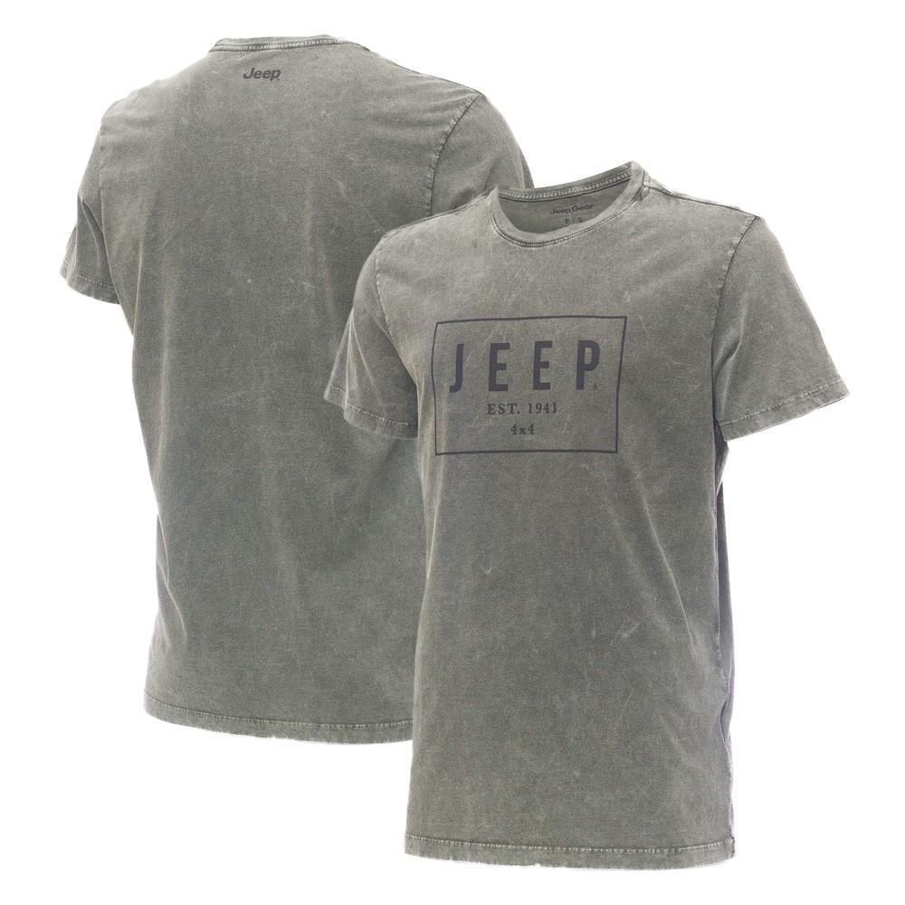 Camiseta Masc. JEEP Box Marmorizada Verde