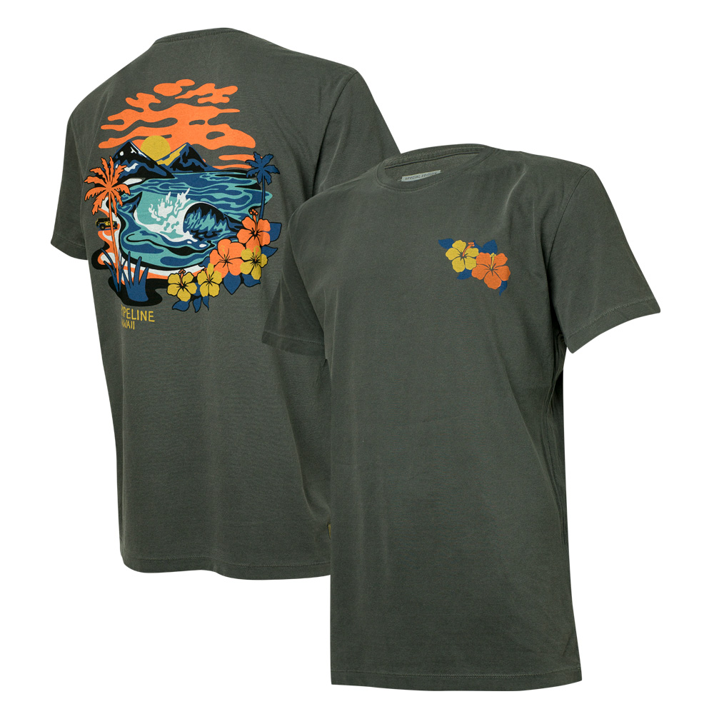 Camiseta Masc. JEEP e WSL Pipeline Estonada - Preta