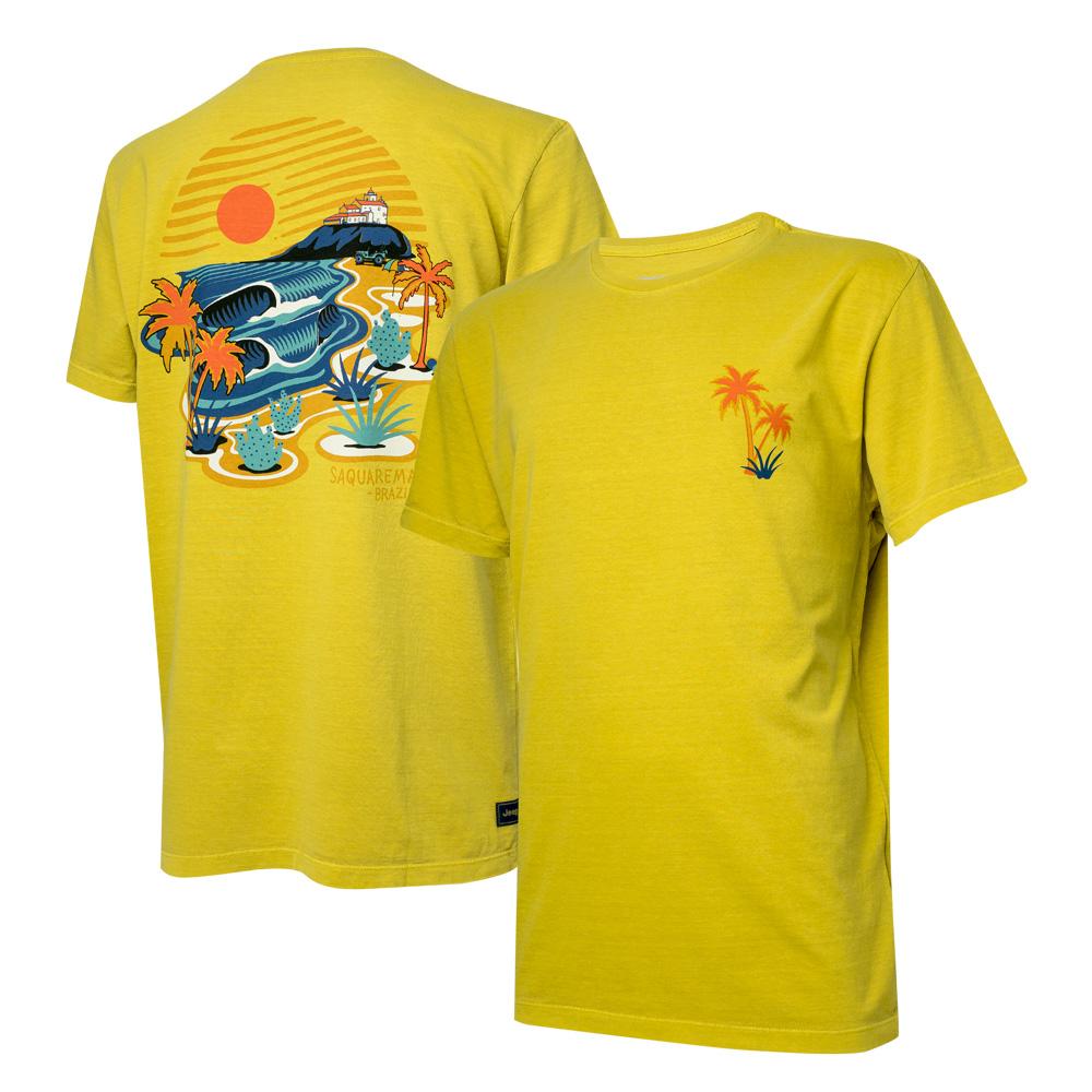 Camiseta Masc. JEEP e WSL Saquarema Estonada - Amarela