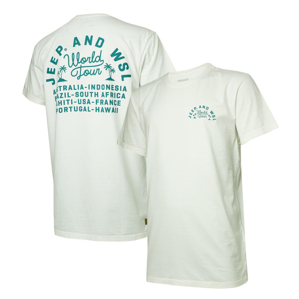 Camiseta Masc. JEEP e WSL World Tour - Off White
