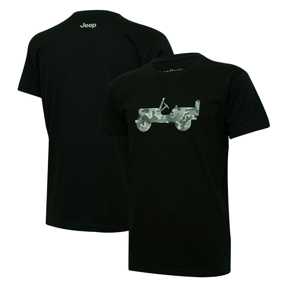 Camiseta Masc. Jeep Limited Edition Willys Camuflado - Preta