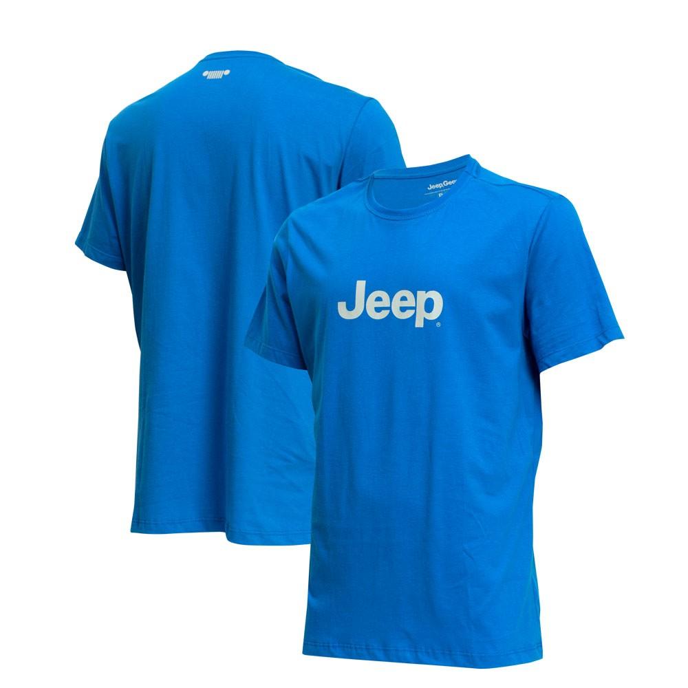 Camiseta Masc. JEEP Logo - Azul