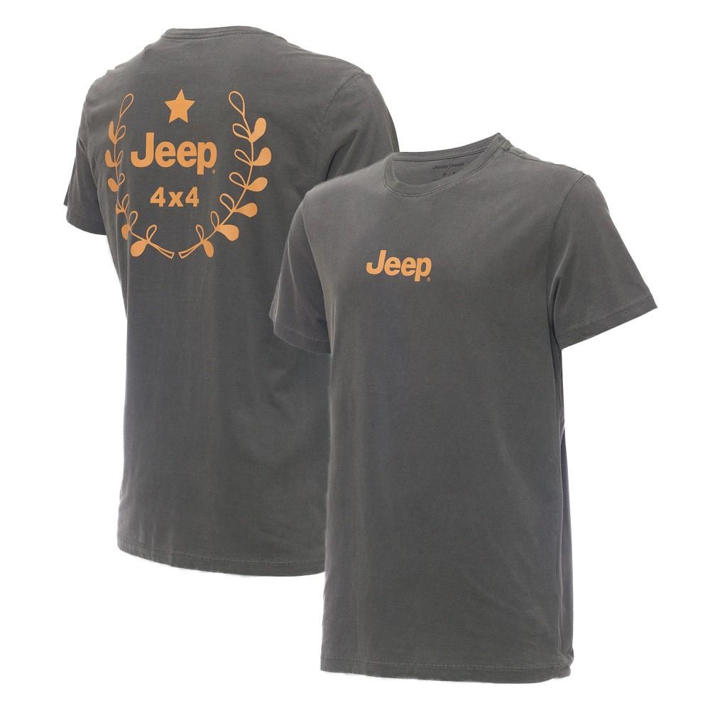 Camiseta Masc. JEEP Prize Estonada Preta