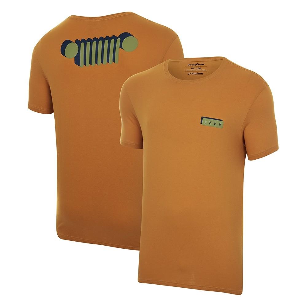 Camiseta Masc. JEEP Shadow Caramelo