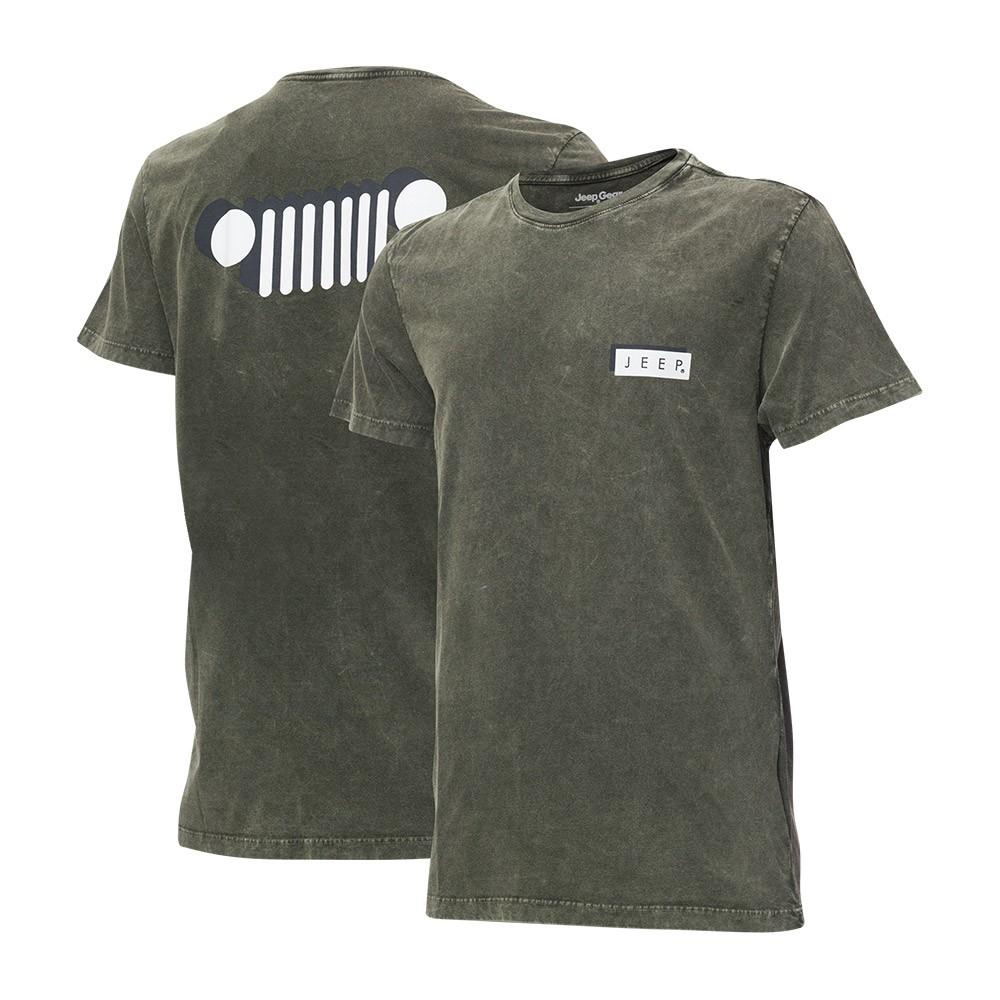 Camiseta Masc. JEEP Shadow Marmorizada Verde