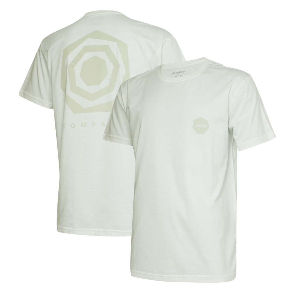 Camiseta Masc. DTG JEEP Compass Back Heptagon - Off White