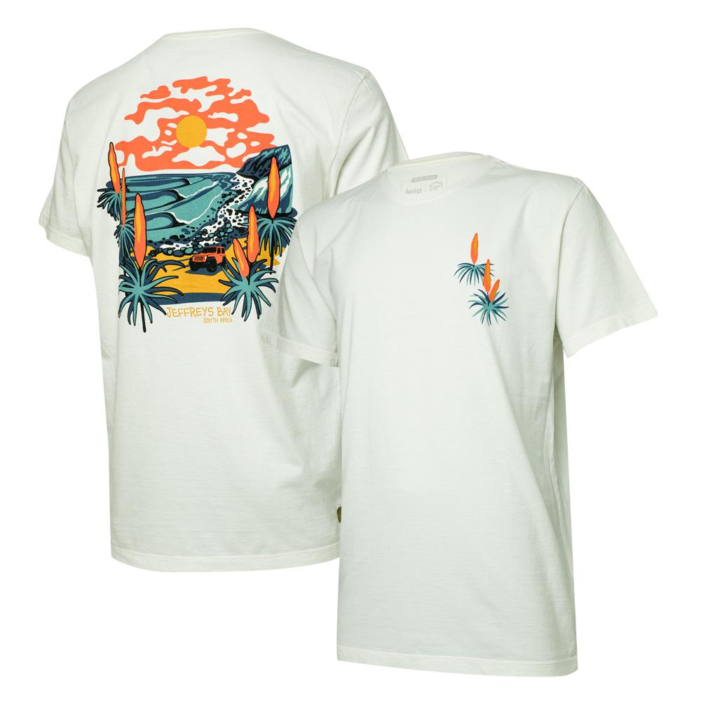 Camiseta Masc. JEEP e WSL Jeffreys Bay - Off White