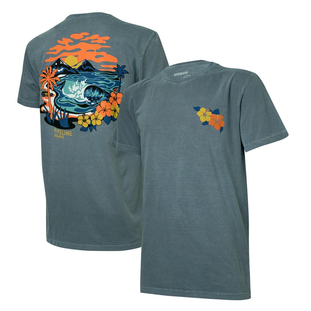 Camiseta Masc. JEEP e WSL Pipeline Estonada - Azul