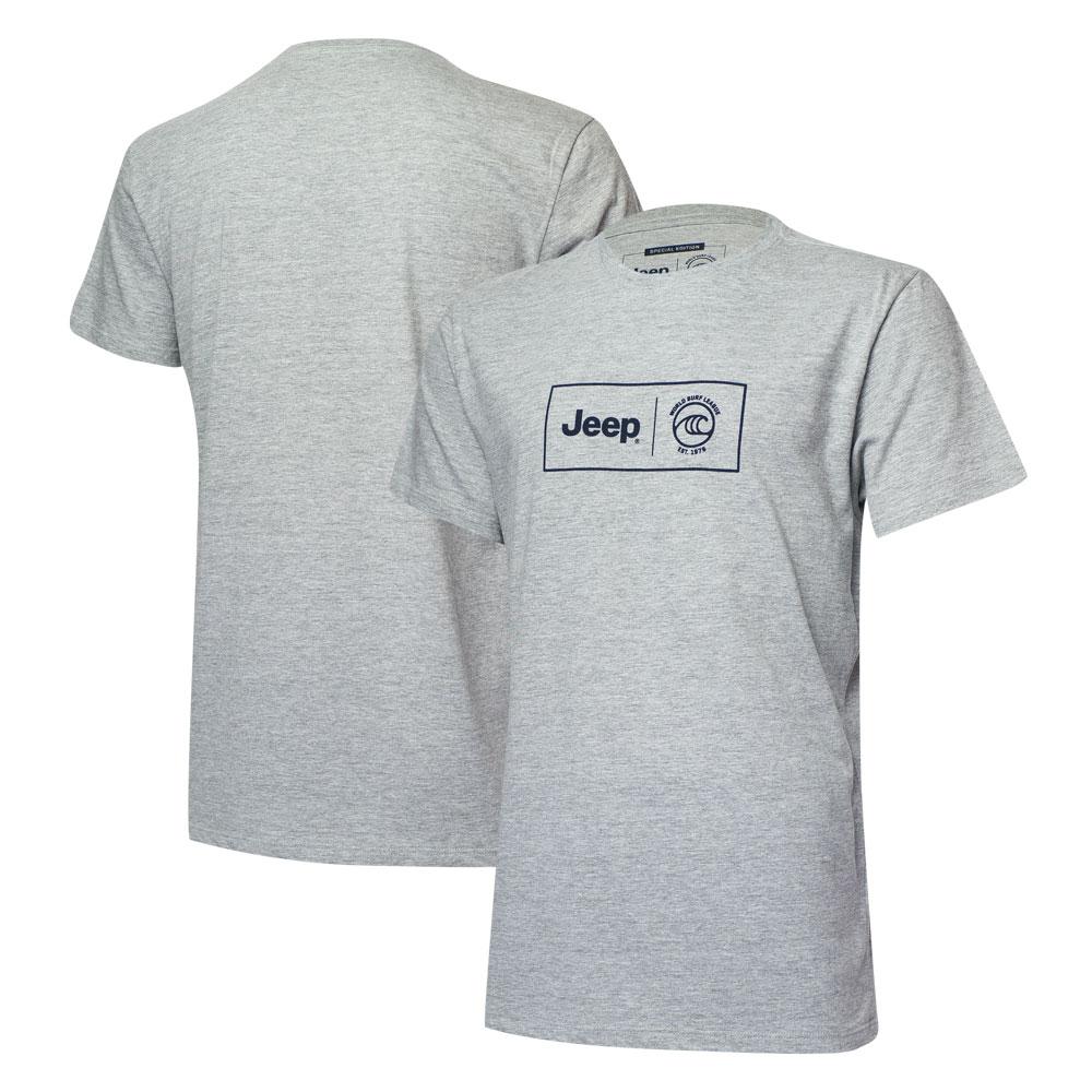 Camiseta Masc. JEEP e WSL Box Logo Collab - Cinza Mescla