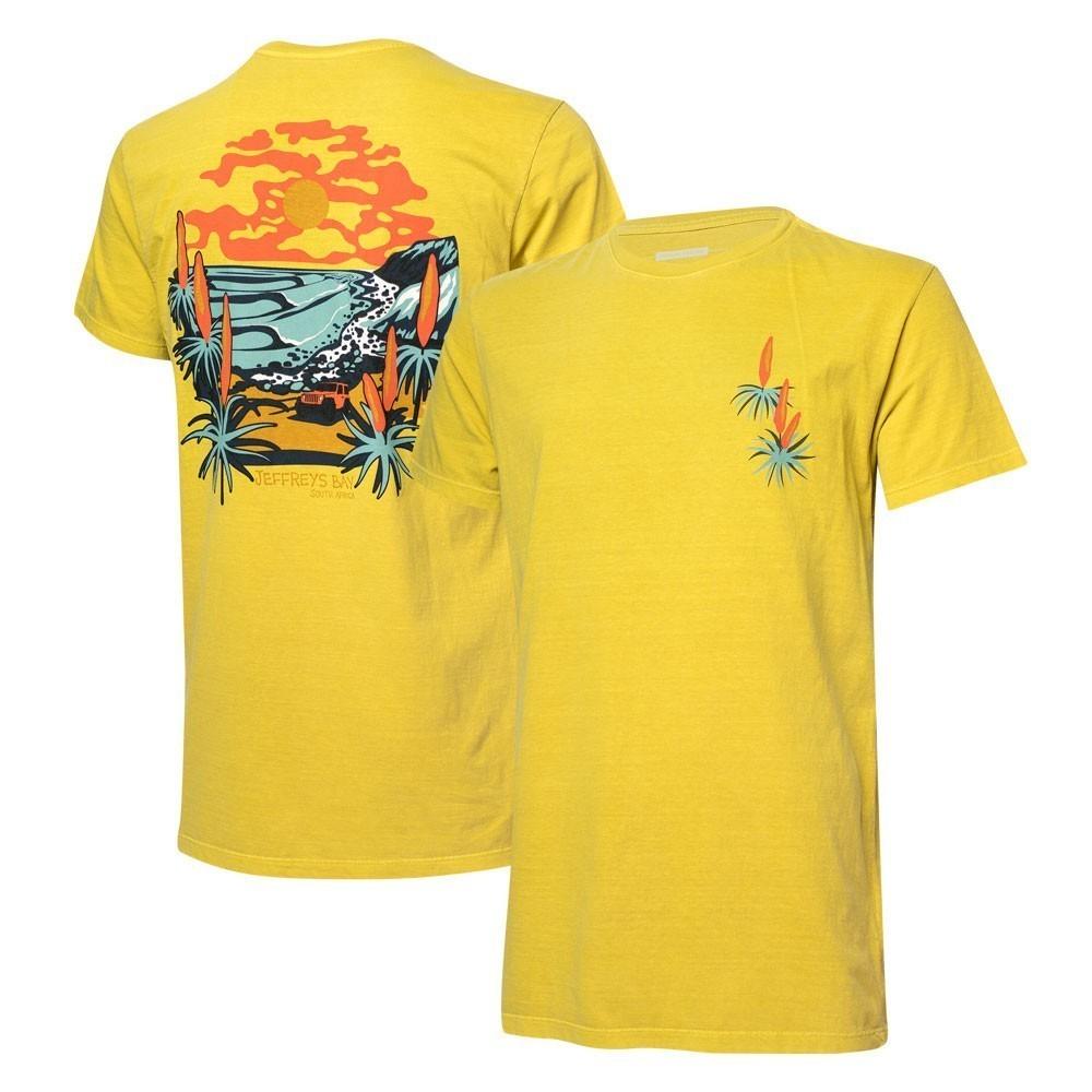 Camiseta Masc. JEEP e WSL Jeffreys Bay Estonada - Amarela