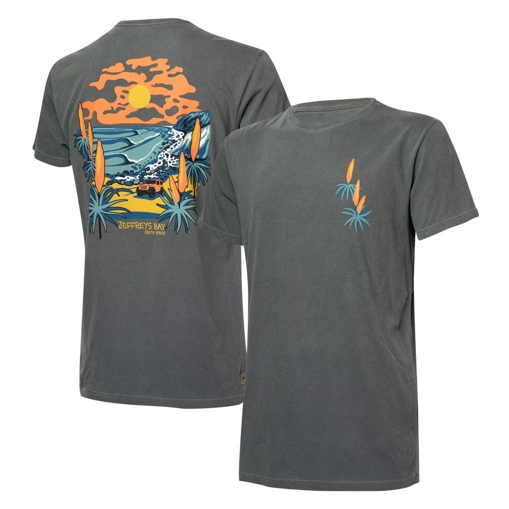 Camiseta Masc. JEEP e WSL Jeffreys Bay Estonada - Preto