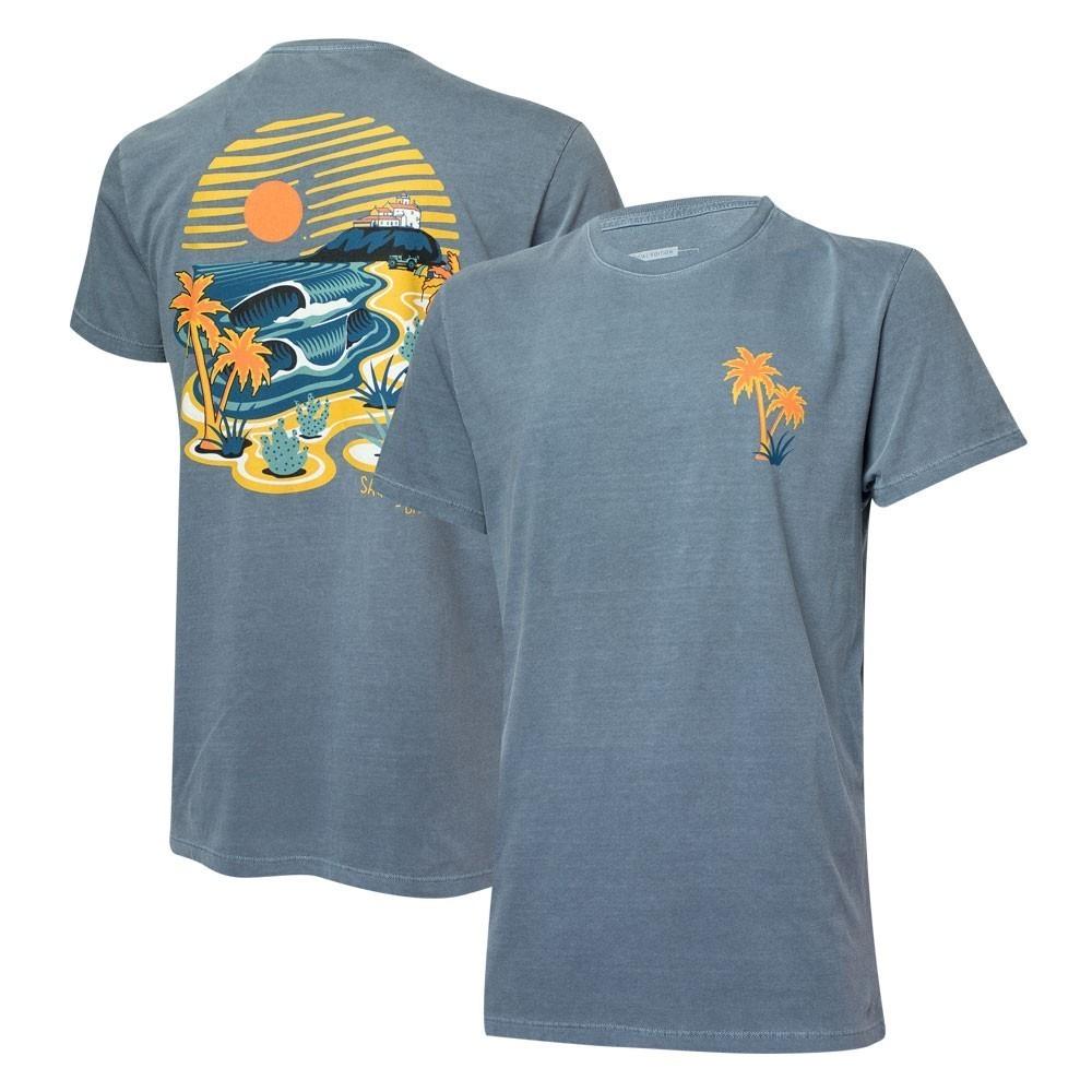 Camiseta Masc. JEEP e WSL Saquarema - Azul Marinho