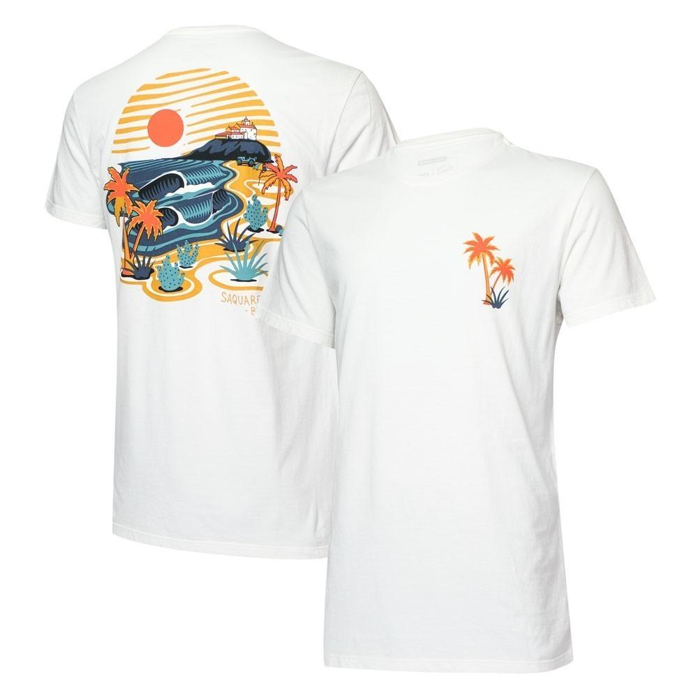 Camiseta Masc. JEEP e WSL Saquarema - Off White