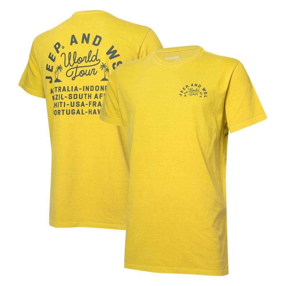 Camiseta Masc. JEEP e WSL World Tour Estonada - Amarela