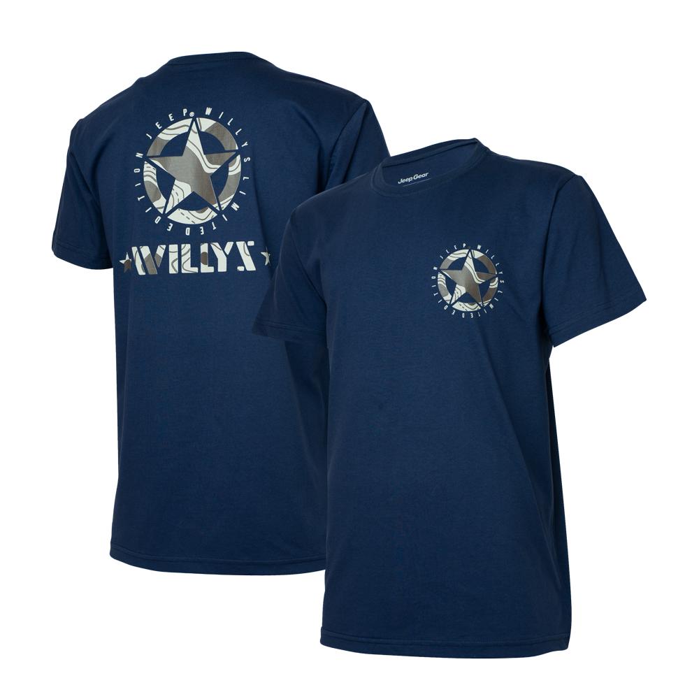 Camiseta Masc. Jeep Limited Edition Willys Star - Azul Marinho