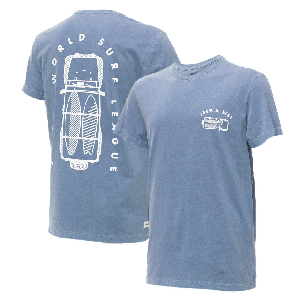 Camiseta Masc. JEEP e WSL Wrangler Trip Estonada - Azul