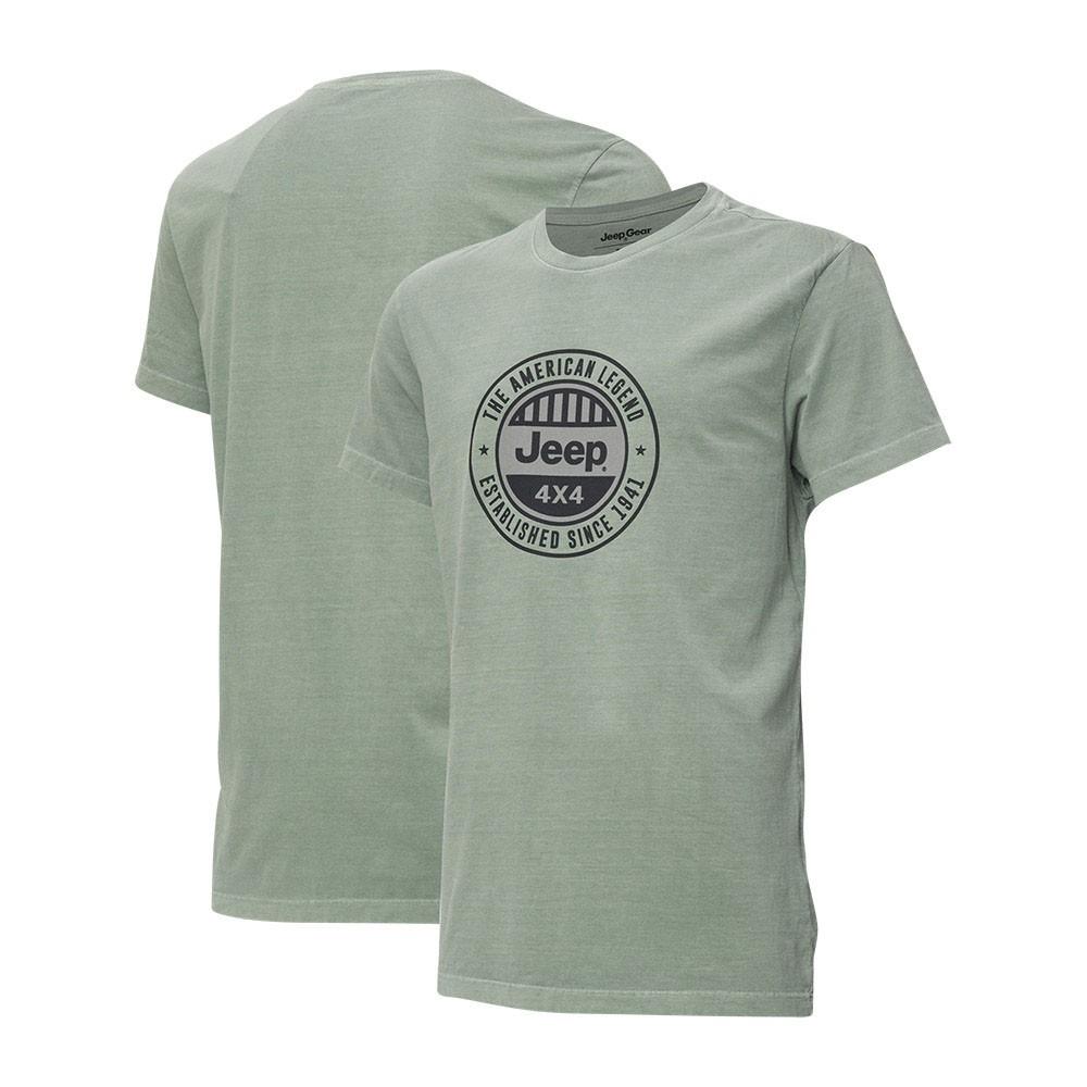 Camiseta Masc.  JEEP Estonada Round Verde