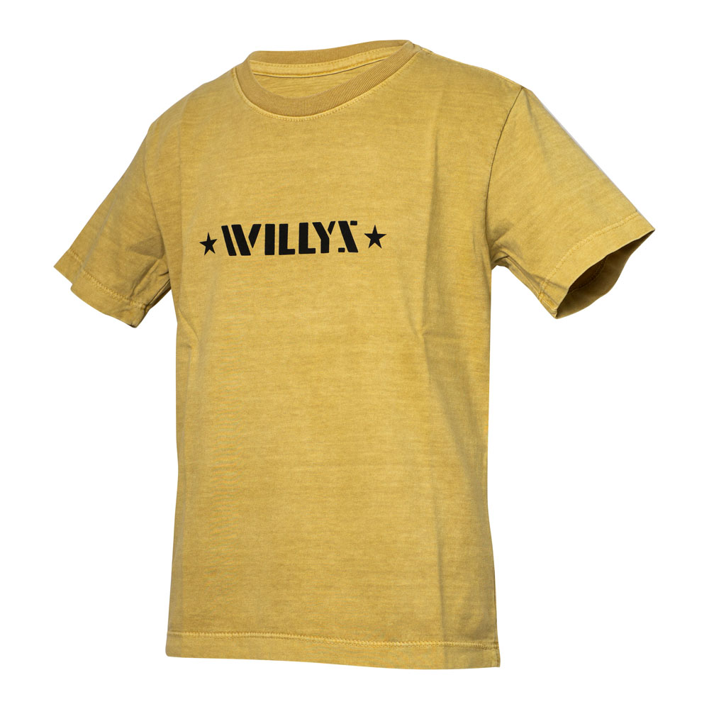 Camiseta Super Premium Inf. JEEP Willys Estonada - Areia