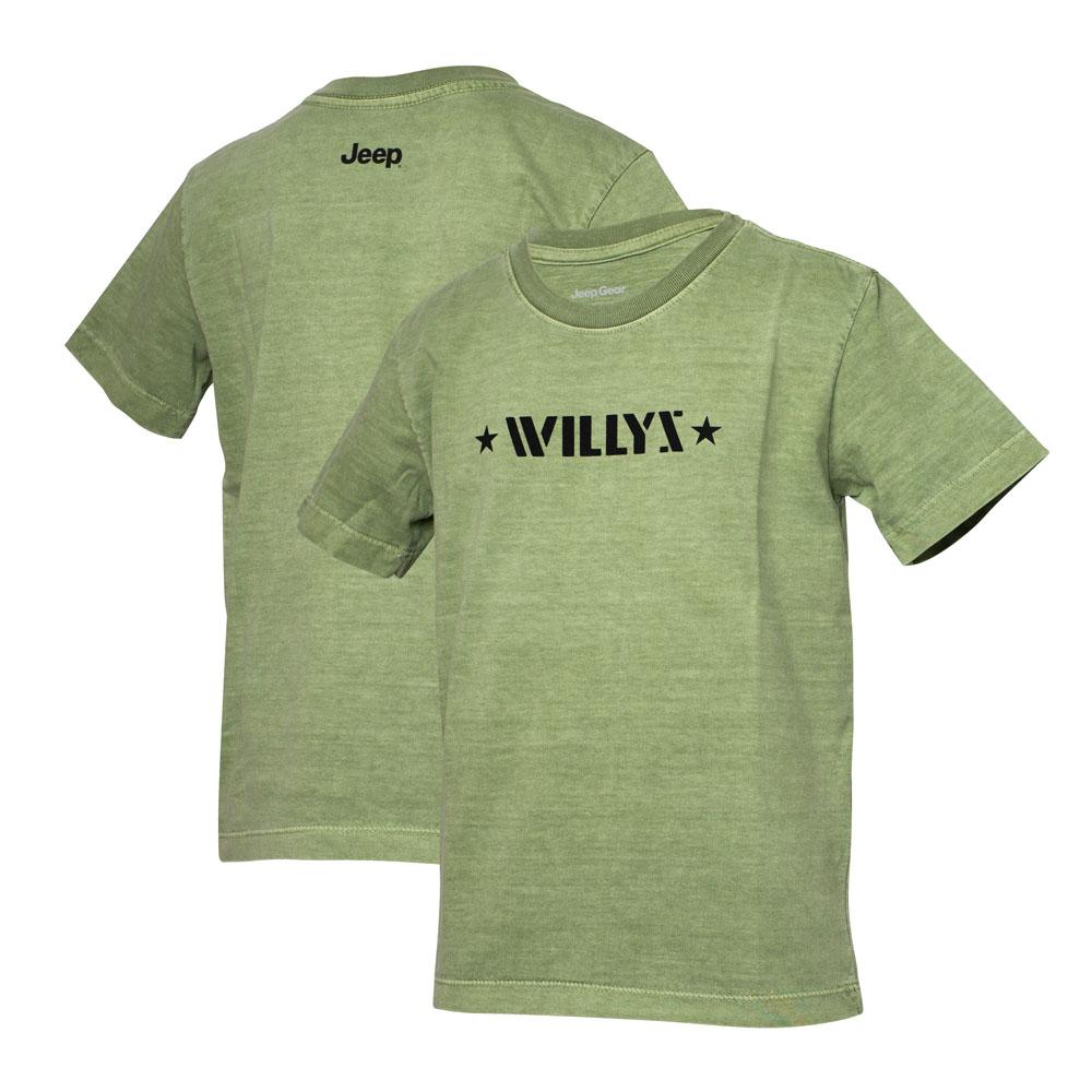 Camiseta Super Premium Inf. JEEP  Willys Estonada - Verde Militar