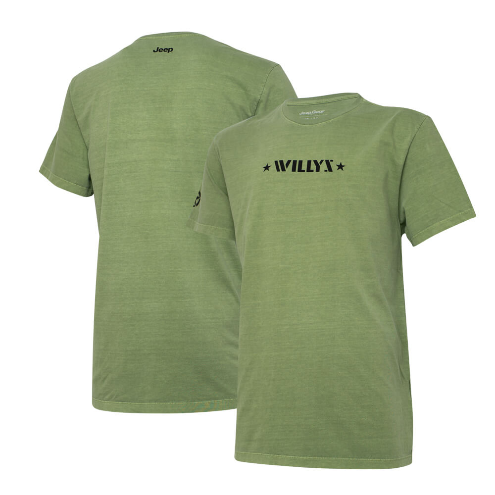 Camiseta Super Premium JEEP Willys Estonada - Verde Militar