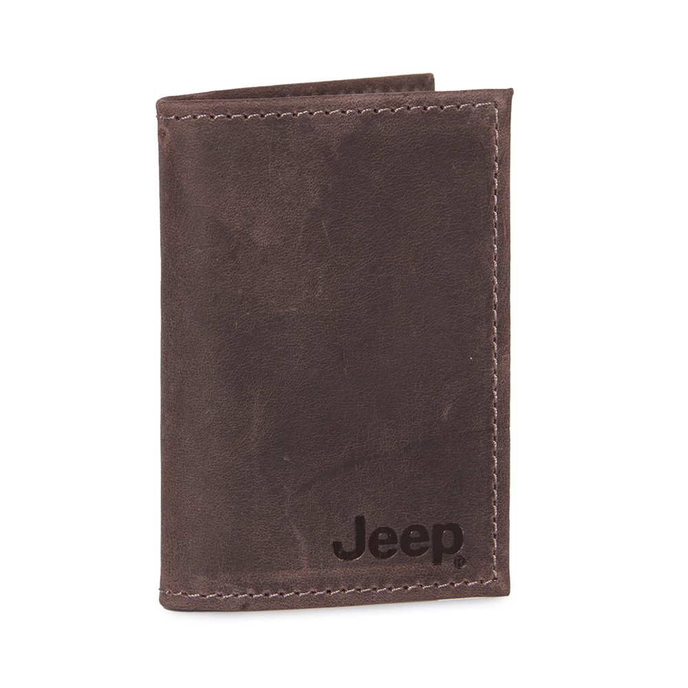 Carteira de Couro Compacta Jeep Marrom