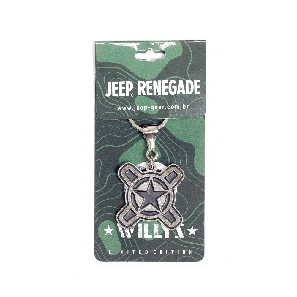 Chaveiro Jeep Limited Edition Renegade Willys Black
