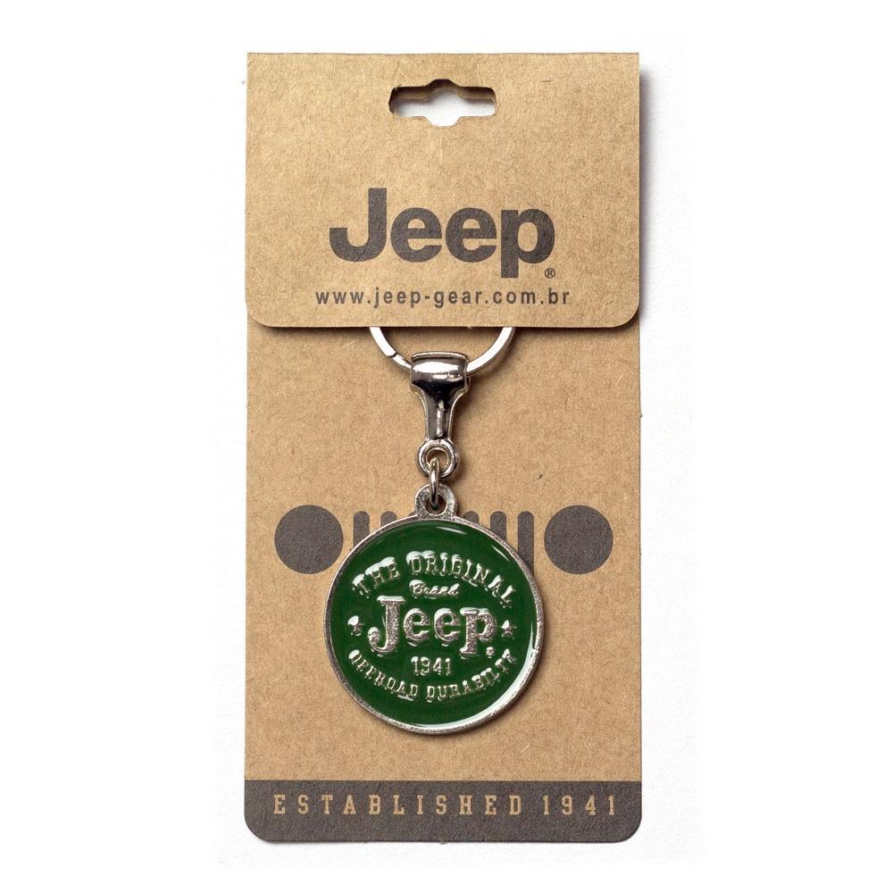 Chaveiro Jeep Redondo Original Verde